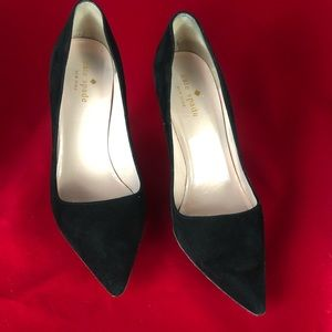 Kate spade New York black very cuoio heels sz 7 B